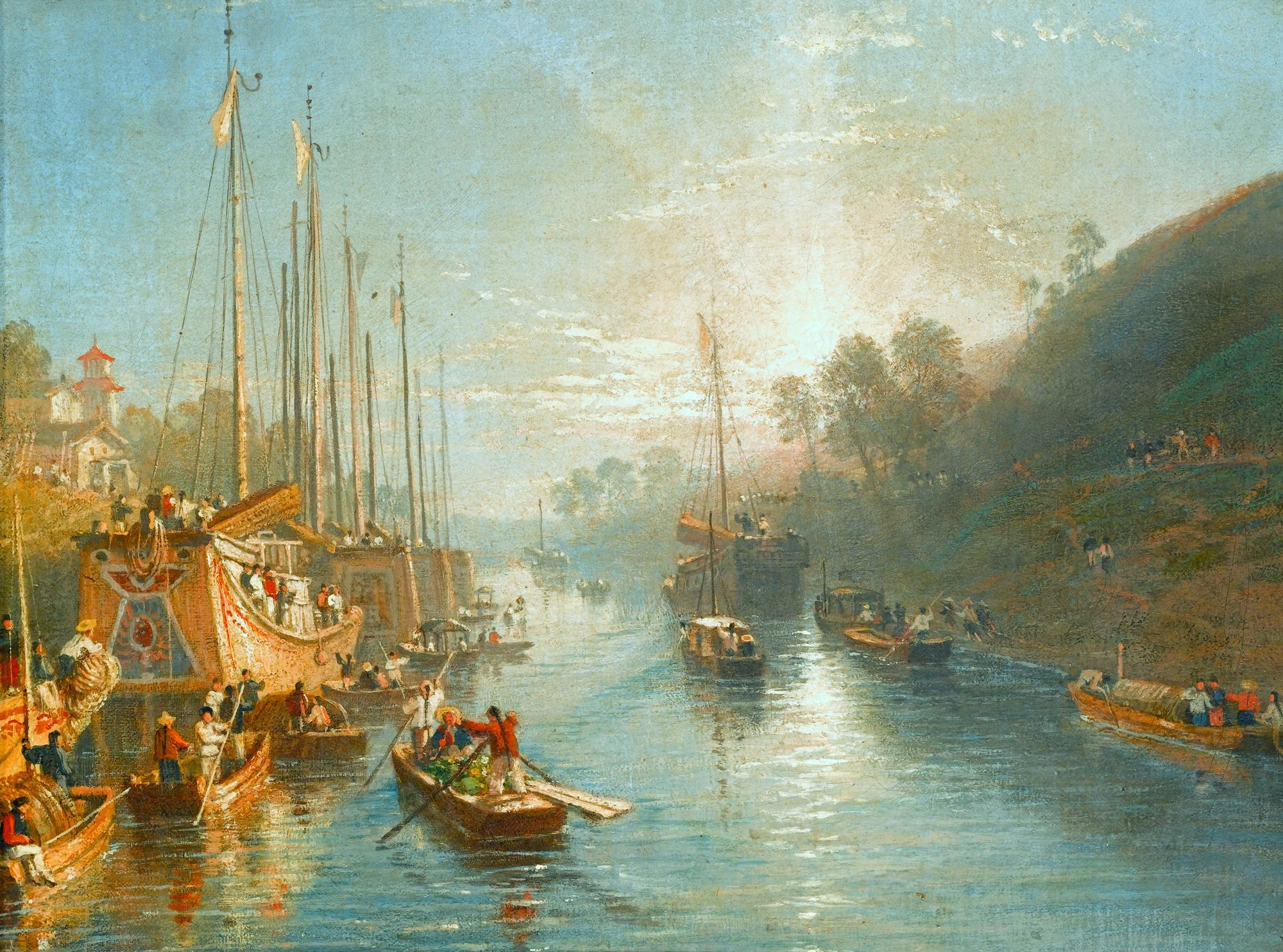 Sunrise on the Grand Canal of China by William Havell (Reading 1782 - London 1857)
