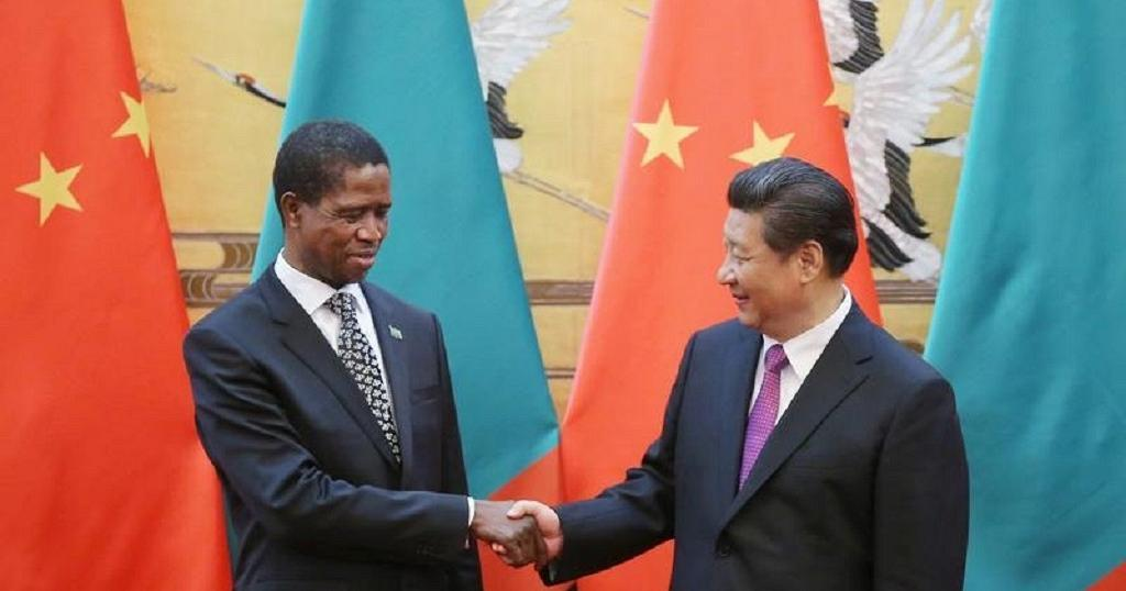 Zambian president, Edgar Lungu and his Chinese counterpart Xi Jinping.