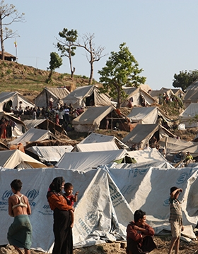 Rakhine State refugee camp