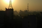 Smog and sunrise over Inner Mongolia's capital, Hohhot. Photo by Jimmy Walsh.