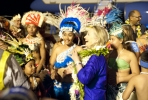 US Secretary of State Hillary Clinton is greeted during her visit to Rarotonga. Photo by US Embassy in New Zealand/ flickr.com