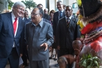 Kevin Rudd with PNG Prime Minister Peter O'Neill in PNG last month