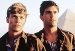 Mark Lee and Mel Gibson (right) in the film <i>Gallipoli</i>.