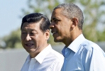 Chinese President Xi Jingping and US President Barack Obama. Photo by AFP.