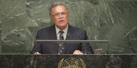 The Prime Minister of Tuvalu, Rt Hon Enele Sosene Sopoaga