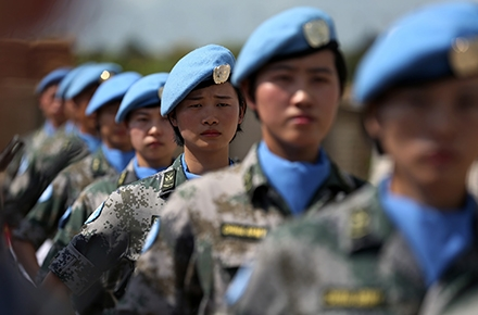 Female Chinese soldiers