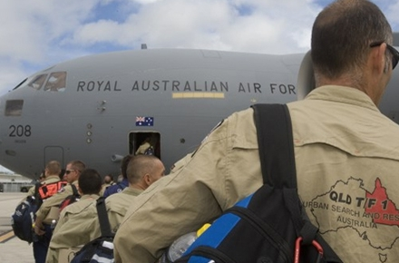 Australia can live up to its middle power status through defence diplomacy and disaster relief. Photo by Department of Defence on flickr.