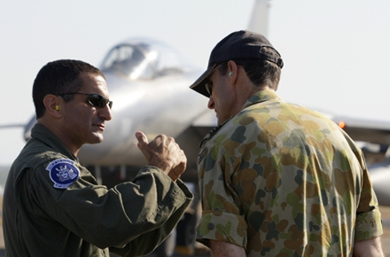 US and Australian air force personnel work together at RAAF Darwin. Photo by US Pacific Fleet on flickr.