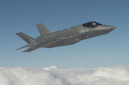 The first of Australia's Royal Australian Air Force's (RAAF) F-35A Lightening II Joint Strike Fighters. Photo by Department of Defence.