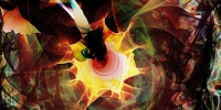 Abstract flame painting