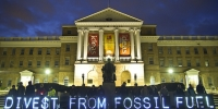 Fossil Free University of Washington students protest in favour of fossil fuel divestment