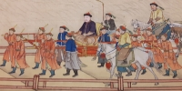 Qianlong Southern Inspection Tour  Scroll 2.  Crossing the Grand Canal, Dezhou (Mactaggart 2004.19.15.1)