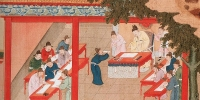 Illustration of Palace Examination at Kaifeng, Song Dynasty, China.