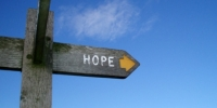 Signpost to Hope, Derbyshire, UK