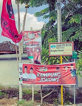 Indonesian election banners