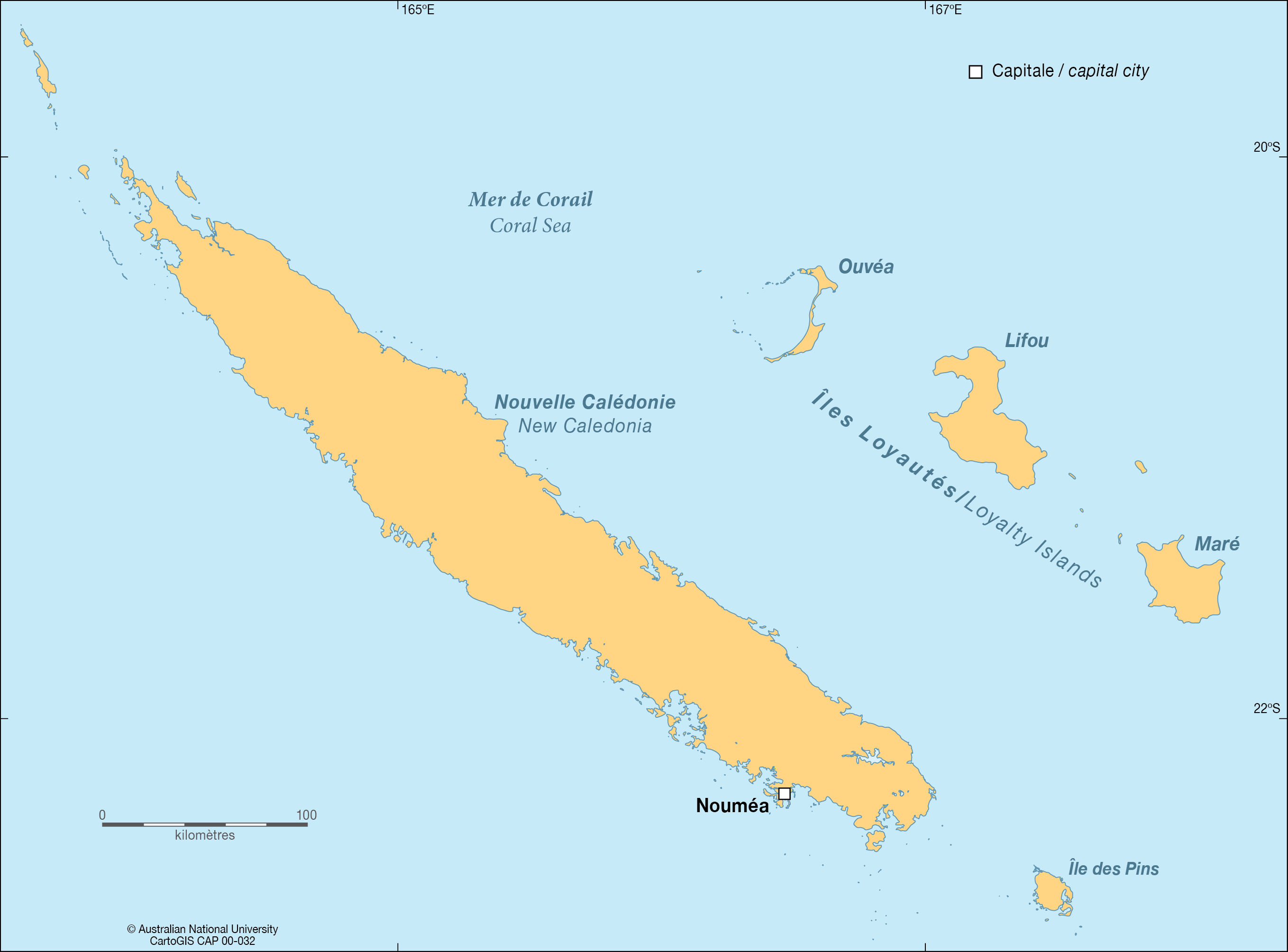 Map Of New Caledonia New Caledonia   CartoGIS Services Maps Online   ANU Map Of New Caledonia