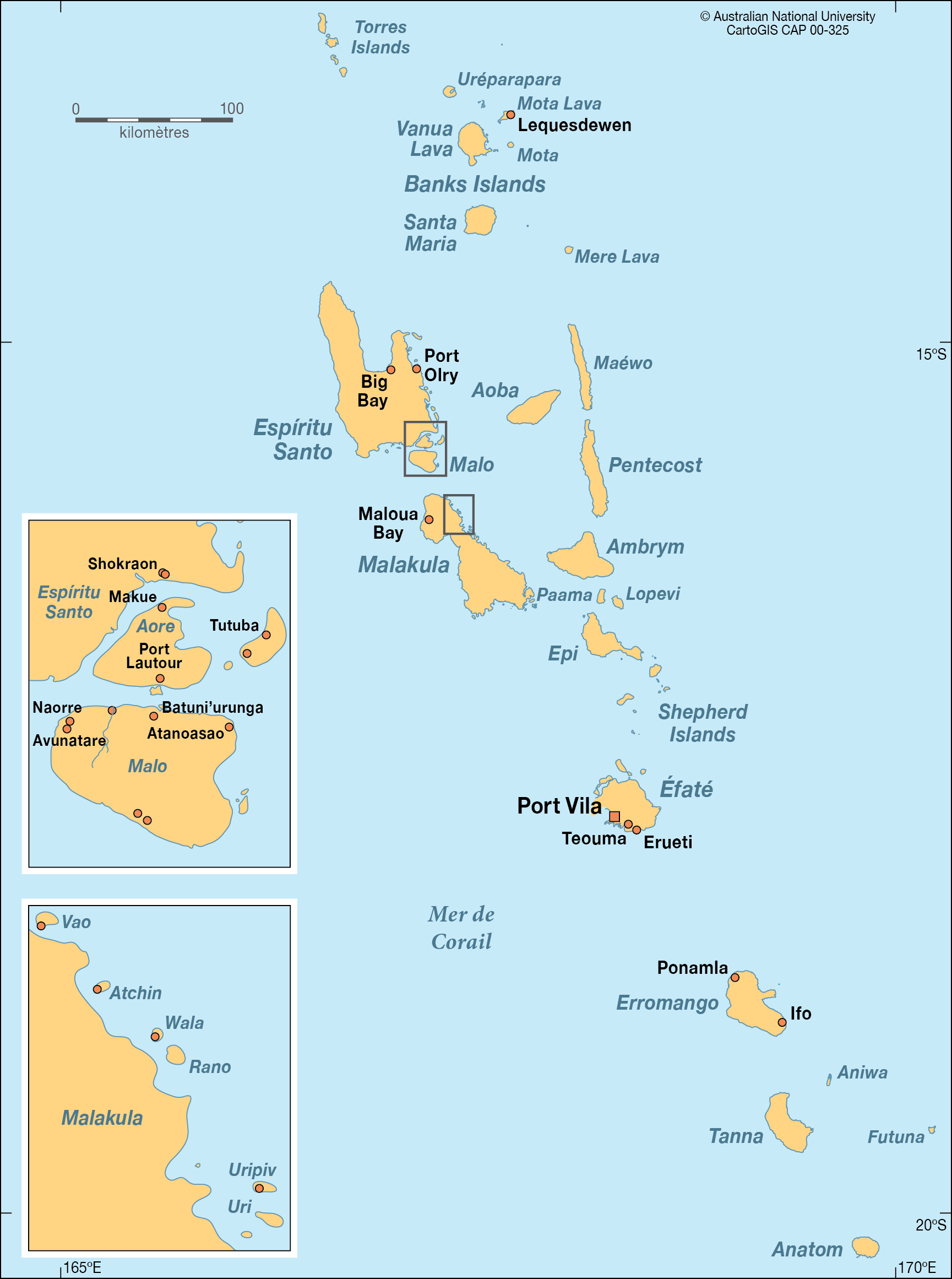 Map Of Vanuatu Vanuatu   CartoGIS Services Maps Online   ANU