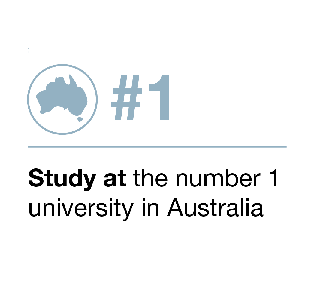 Study at the number one university in Australia