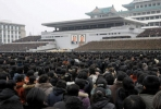 A rally is held at Kim Il Sung Square in Pyongyang to celebrate North Korea's third nuclear test. Photo by AP.