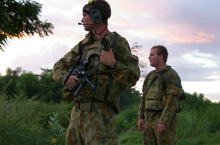 Australian peacekeepers in Timor Leste. Photo by David Axe on flickr.