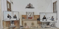 Image of virtual court in session by Michael Blazewicz, supplied by Meredith Rossner
