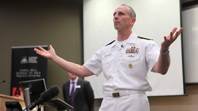 Admiral Jonathan Greenert. Photo by Kate Hulm/ ANU Coral bell School of Asia Pacific Affairs.